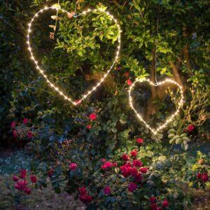 coeur lumineux led déco extérieure mariage