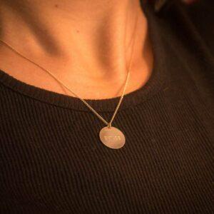 collier médaille or message extase bijou message stylé acheter en ligne