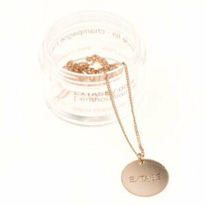 collier médaille or avec message