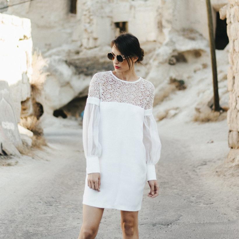 Robe De Mariee Courte Line