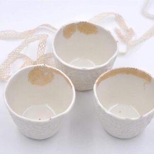 Tasse expresso et photophore en porcelaine myriam ait amar acheter boutique paris disponible en ligne et à paris