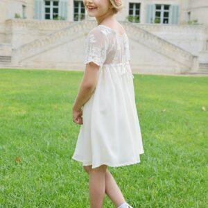 Robe fille Lucie Les Petits Inclassables robe de baptême cérémonie et cortège pour petite fille. Petite robe style bohème chic. Dispo boutique Paris