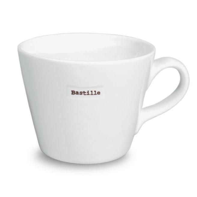 Mug Bastille en porcelaine. Mug avec le mot Bastille pour les amoureux du génie. En stock, livraison express et en vente aussi dans notre boutique à Paris