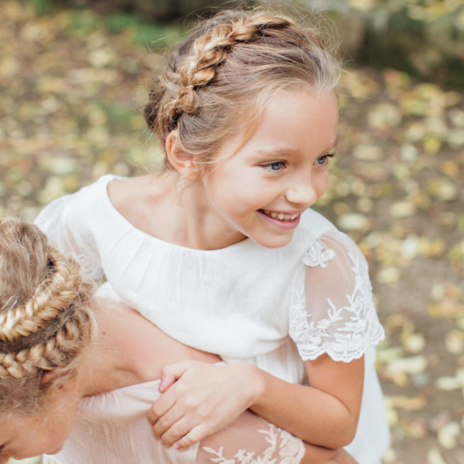 Robe fille Manon Les Petits Inclassables style bohème chic pour mariage, cortège, cérémonie ou demoiselles d'honneur. Dispo boutique Paris