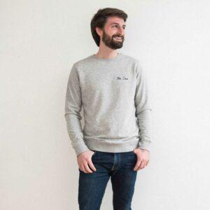 Sweat Buttée unisexe The One sweatshirt boutique paris message stylé