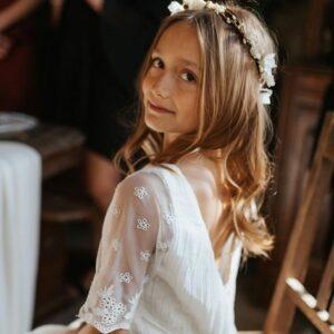 Robe fille Thelma Les Petits Inclassables style bohème chic pour mariage, cortège, cérémonie ou demoiselles d'honneur. Acheter boutique Paris