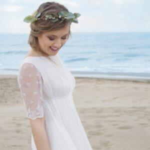 English Garden Robe Femme Thelma style bohème chic. Robe de mariée longue et bohème. Acheter boutique Paris et en ligne