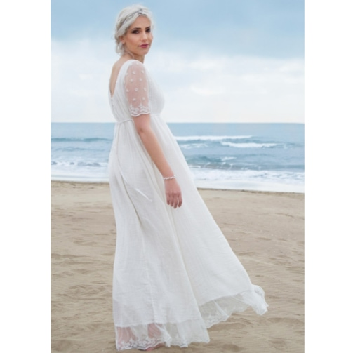 Robe femme Thelma Les Petits Inclassables style bohème chic. Robe de mariée longue et bohème. Acheter boutique Paris et en ligne