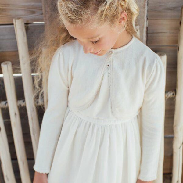 Boléro fille et bébé Les petits Inclassables. Gilet fille pour cérémonie coton et cachemire pour robe cortège. Acheter boutique Paris