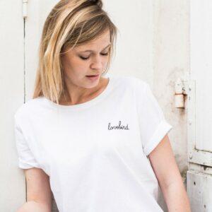 Tee-shirt Buttée lovebird à porter tout le temps. Tee shirt à message à offrir à son amoureuse. Vêtement message amour. Acheter boutique Paris