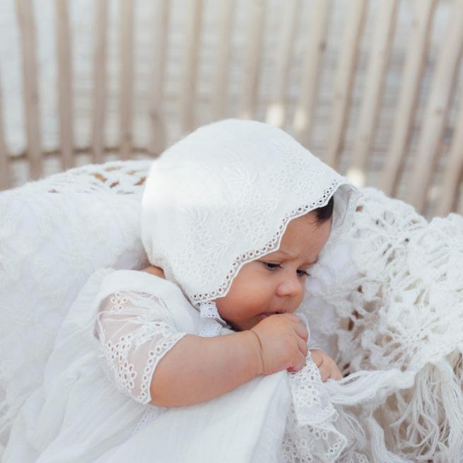 Béguin bébé fille Thelma Les Petits Inclassables en coton et broderie. Cadeau baptême. Acheter boutique Paris ou en ligne