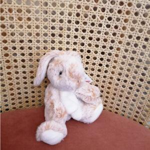 Peluche lapin toute douce personnalisable. Peluche beige enfant cadeau nourrisson. Peluche acheter en ligne