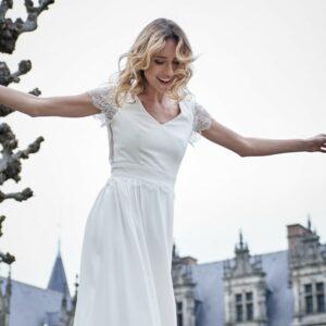 De Soie et d'Emotions Robe de mariée Flavie. Robe de mariée bohème chic. Acheter et essayer boutique Paris concept-store mariage
