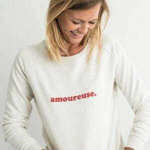 Sweat Buttée amoureuse Sweat femme message pour romantiques et jeunes mariées. Sweat message amour. acheter boutique paris 11 et en ligne