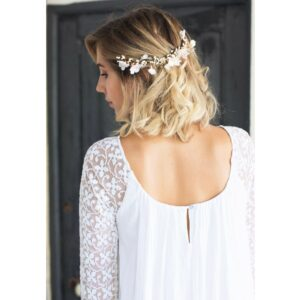 English Garden Robe longue Femme Ava style bohème chic. Robe de mariée blanche et bohème chic. Acheter boutique Paris et en ligne