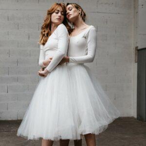 By Romance - Jupe tutu blanche Ballerine. Jupe de mariée style jupon tutu pour un mariage cool. Acheter en ligne et dans notre boutique à Paris