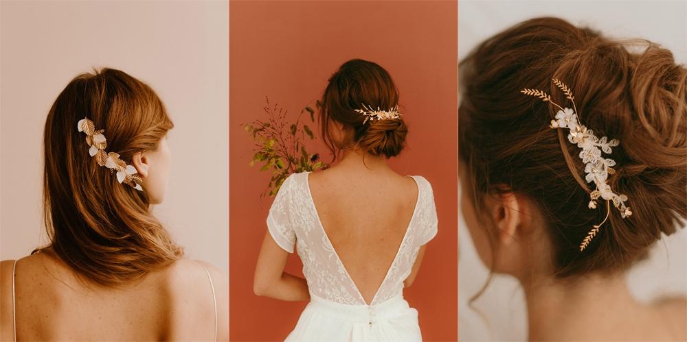 Les nouveautés La Chambre Blanche viennent d'arriver ! Accessoires de cheveux et bijoux pour mariée. Essayer et acheter dans notre boutique à Paris
