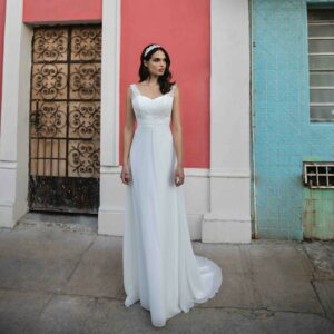 Robe de mariée longue Barbara Bo'M collection 2020 boutique mariage paris bohème