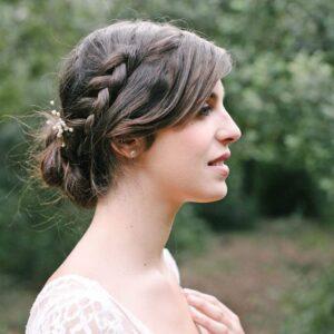 Accessoire de cheveux Pic à chignon Pearl. Accessoires mariée et invités. Bijou de tête perles naturelles. Acheter en ligne et boutique Paris