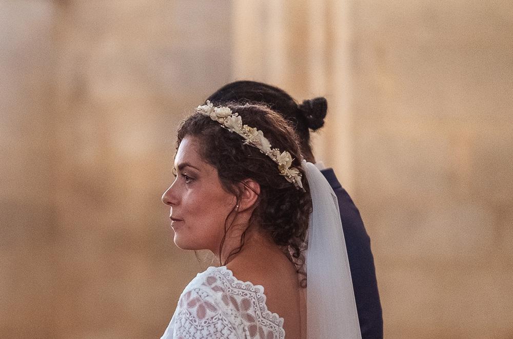 couronne de fleurs mariée mariage