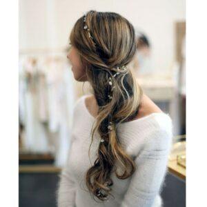 Tiare perles pour cheveux Katarina par Nebo. Accessoire de cheveux, bijou de tête brillant pour mariage et soirée. Acheter boutique Paris et en ligne