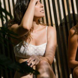 Lingerie soutien-gorge bandeau dentelle couleur ivoire Merida