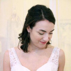 Boucles d'oreille collection Plumetti créoles avec brillant. Bijou plaqué or bohème chic pour mariée ou quotidien. Acheter boutique Paris et en ligne