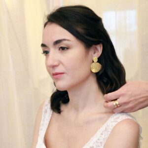 Boucles d'oreille collection Plumetti pendantes ovales