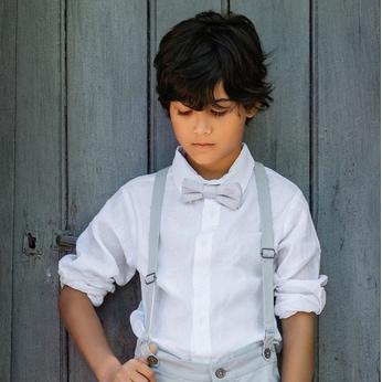 Chemise garçon en lin Noé Les Petits Inclassables, pour mariage, communion, fête et bar mitzvah. Dispo acheter boutique Paris et en ligne
