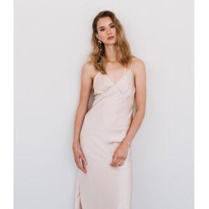 By Romance - Robe nuisette rose nude Amy. Robe de mariée ou demoiselle d'honneur couleur nude Acheter boutique Paris et en ligne
