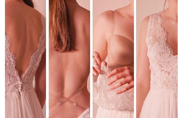 Les soutiens-gorge pour les dos nus sont arrivés ! soutien gorge dos nu back to glam couleur peau. lingerie robe de mariée. acheter boutique paris