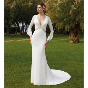 Robe de mariée sirène Romance au Jardin. Collection mariage 2021. Boutique mariage concept-store Paris. Essayer RDV privé essayage paris