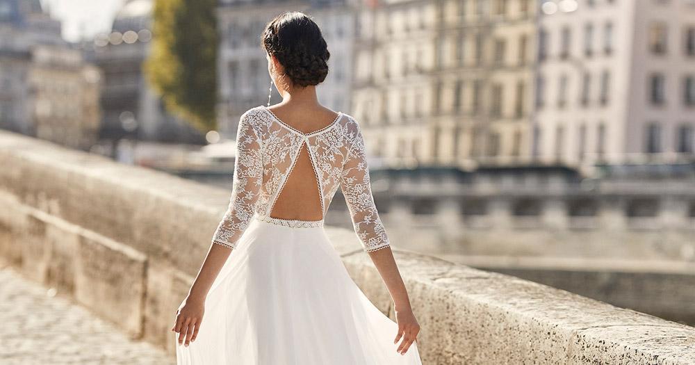 robe de mariée 2021 collection alma novia essayage rdv boutique mariage paris