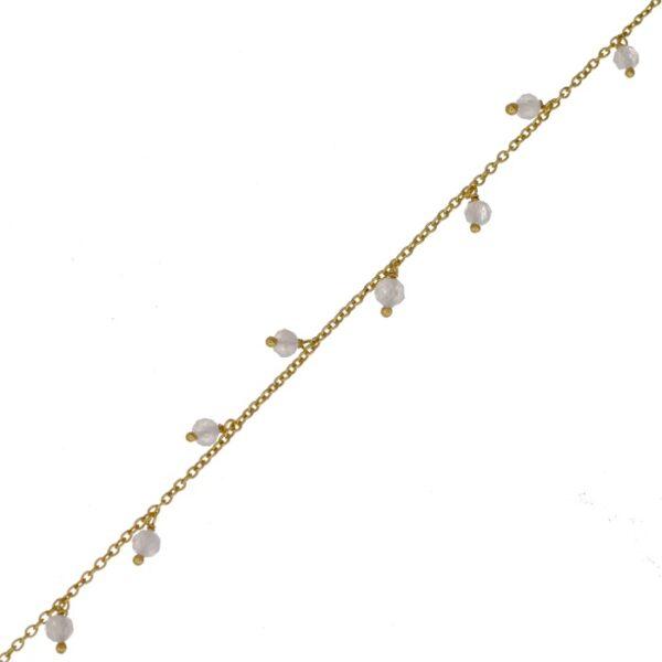 Bracelet plaqué or ornées de petites pierres