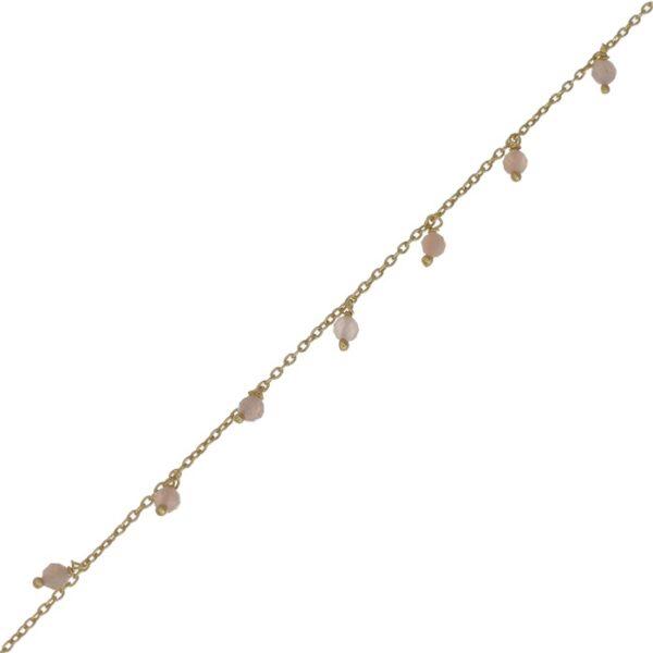 Bracelet plaqué or ornées de petites pierres. Bijou bohème chic fait main. Disponible dans notre boutique à Paris et en ligne