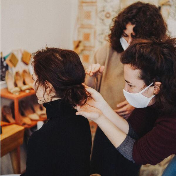 Coaching pour Coiffure Maquillage de la mariée. coaching coiffeuse maquilleuse mariage. paris. réserver en ligne