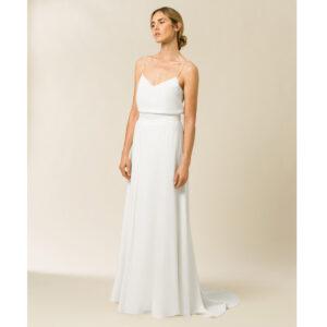 Jupe de mariée longue et chic blanche ivoire. ensemble mariée jupe et top pour mariage cool. Petits prix. Acheter en ligne et boutique Paris