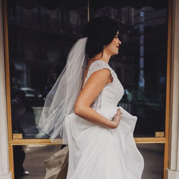 Voile de mariée en tulle tout simple. Accessoire mariage petits prix. Boutique concept-store paris et eshop