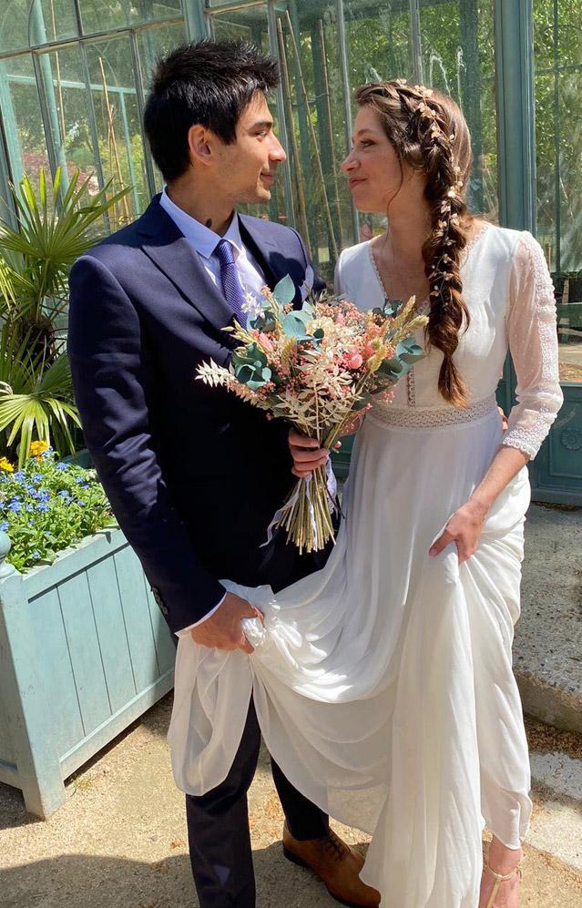 Perrine mariée 2021 robe de mariée et mise en beauté Pivoines and love