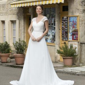 Robe de mariée longue décolleté Diane