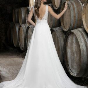 Robe de mariée longue dentelle fleurie Delphine