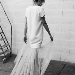 Robe de mariée courte et jupon amovible Billy by Romance