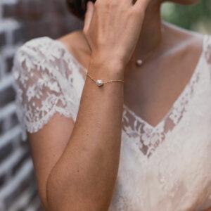 Bracelet perle et chaine Foster.