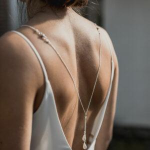 Collier 3 en 1 perles et cristaux Faye
