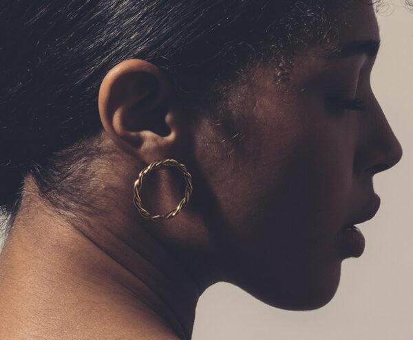 Boucles d'oreille Diane dorées