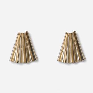 Boucles d'oreille Françoise dorées
