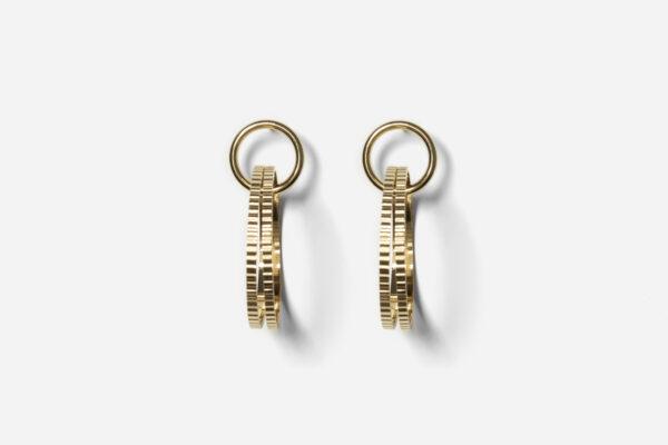Boucles d'oreille Vénus dorées 3 anneaux